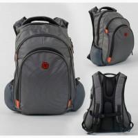 Городской/школьный рюкзак, серый, usb-кабель, мягкая спинка