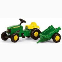 Трактор педальный с прицепом Rolly Toys Kid John Deere 12190