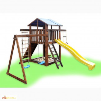 Детский игровой комплекс с качелями, игровая площадка, спортивный комплекс