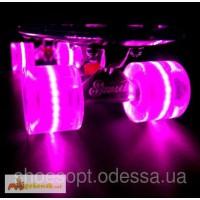 Скейтборд/ скейт Пенни борд (Penny Board) со светящимися колесами
