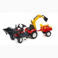 Трактор педальный с прицепом и двумя ковшами Falk 2051CN