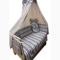 Акция! Набор постельного в детскую кроватку. Скидка 50%