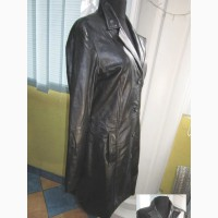 Оригинальная женская кожаная куртка-плащ MONTGOMERY. Англия. Лот 866
