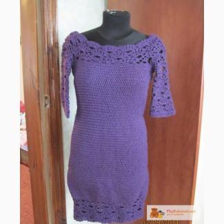 Вязание с крючком платье на зиму 87