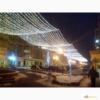 Светодиодная нить, светящиеся гирлянды, праздничная подсветка дома