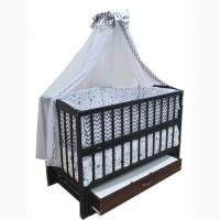 Акция! Весь комплект для сна: Кроватка - маятник, постель, матрас. NEW
