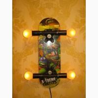 Детский светильник, ночник, бра Скейт