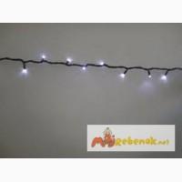 Гирлянда нить светодиодная, новогодние гирлянды, установка праздничной иллюминации