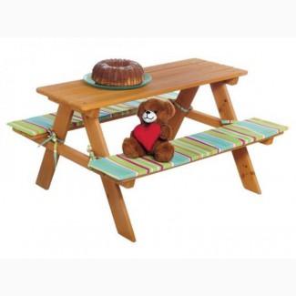 Детский складной стол с лавочками