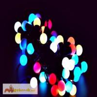 Светодиодные гирлянды шарики, купить новогодние подарки