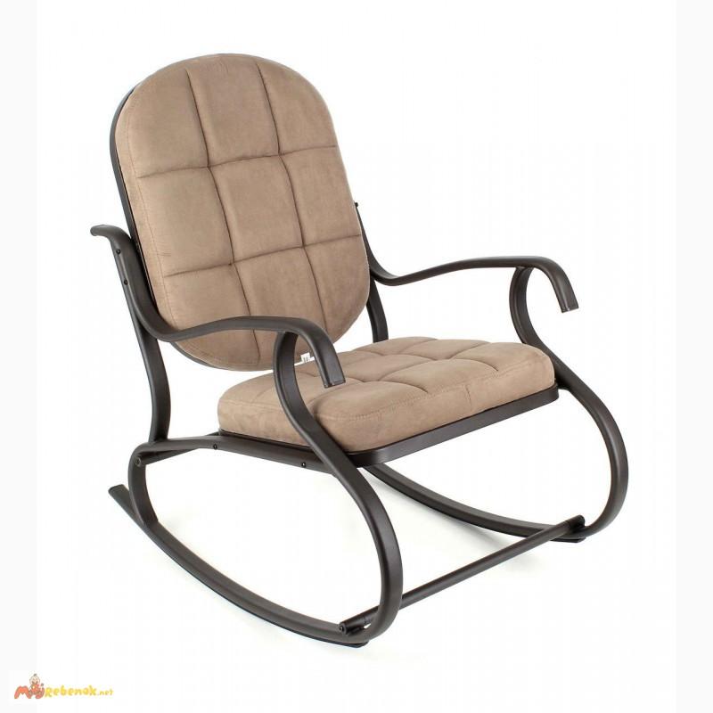 Фото 4. Кресло-качалка, металлическое, Кофе с молоком