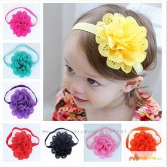 Повязка с цветком на голову для девочки