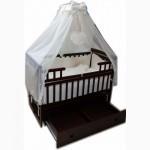 Акция! Комплект для сна Элит. 2490 грн. Кроватка маятник + ящик + матрас + постель