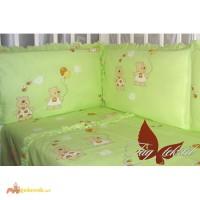 Детский комплект Мишки-малышки зелен