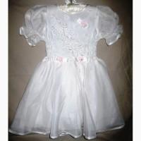 Белоснежное нарядное платье для девочки