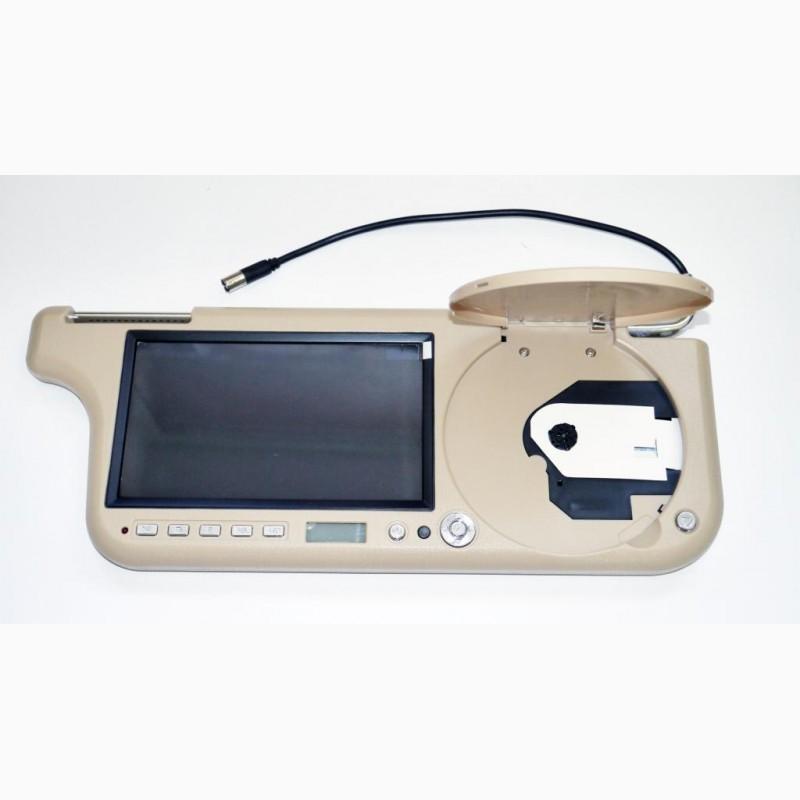 Фото 2. Авто козырек 7 с DVD+USB+SD Бежевый