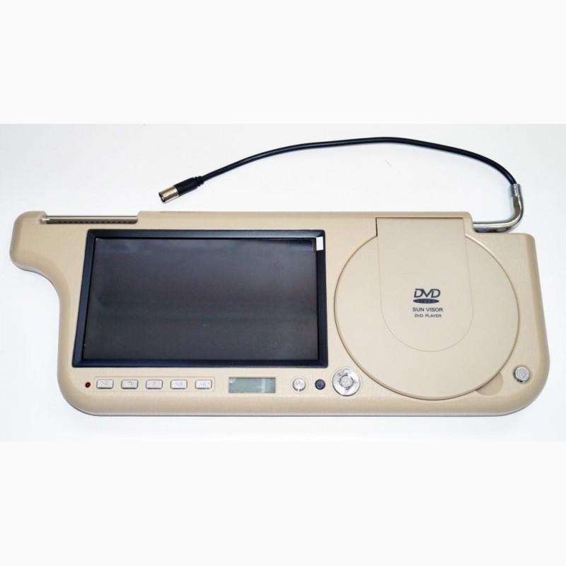 Фото 4. Авто козырек 7 с DVD+USB+SD Бежевый