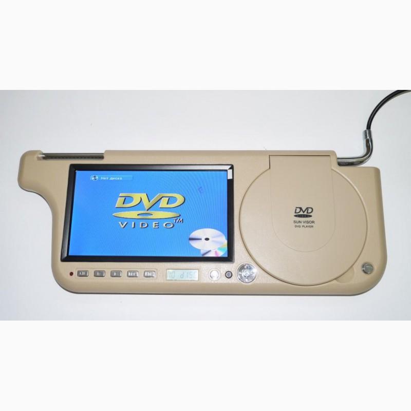 Фото 6. Авто козырек 7 с DVD+USB+SD Бежевый