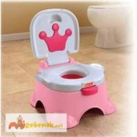 Новый в НАЛИЧИИ! Детский музыкальный горшок Трон для принцесы Fisher-Price Pink Princess