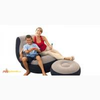 Надувное велюровое кресло Intex 68564