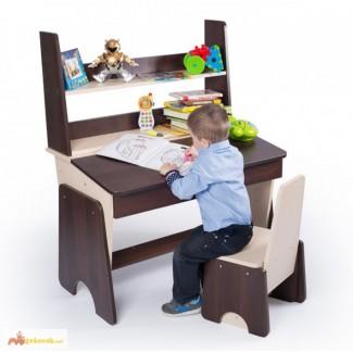 Регулируемые парта и стул Соня двухцветный