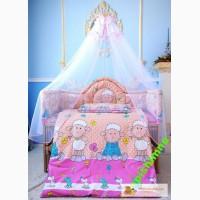 Защита в детскую кроватку защитное ограждение 360х40см Медисон Medison боритики бампер