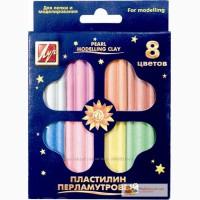 В наличии пластилин ЛУЧ 18С1197-08 перламутровый 8 цветов 105 гр