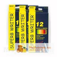 4100-12CB Набор цветных карандашей 12 цветов серия Superb Writer MARCO (продано)