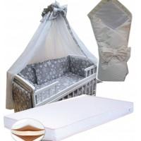 Акция! Набор в кроватку: матрас кокос, постель 8 элементов, конверт. Новое
