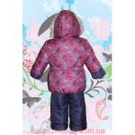 Зимняя курточка и комбинезон для девочки Зонтики