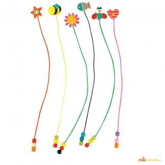 Хорошенькие закладки с деревянными игрушками от Bino