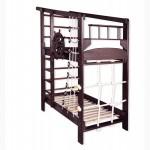 Спортивная двухъярусная кровать Капитан-2 в тонировке