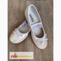 Туфли детские нарядные Балетки для девочки Plato, р.33, цвет: белые
