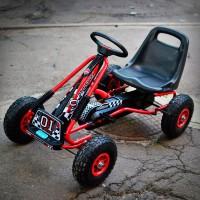 Велокарт детский металлический на резиновых колесах ФОРМУЛА 1