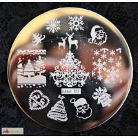 Пластина hehe053 для дизайна ногтей christmasnails