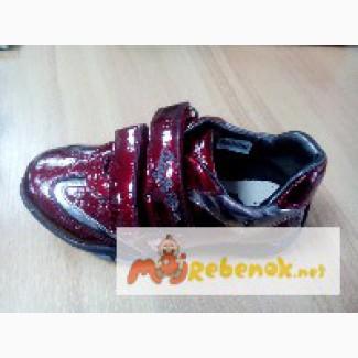 Кожаные туфли, полуботинки, р.24-25