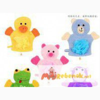 Мочалки-перчатки для детей