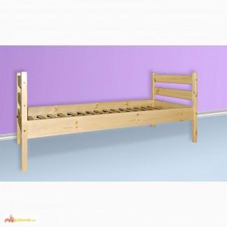Одноярусная кровать Оптима из сосны
