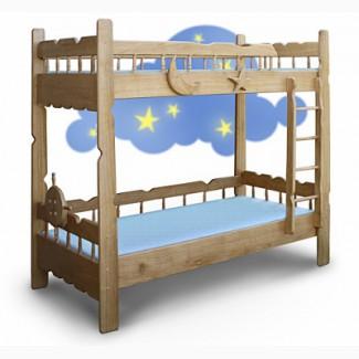 Двухъярусная кровать из дерева ясеня Врунгель