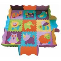 Детский коврик-пазл Веселый зоопарк с бортиком gb-m129a2e Baby Great