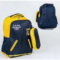Школьный легкий рюкзак мягкая спинка пенал в комплекте 3 кармана