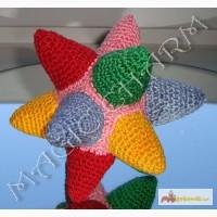 Развивающая игрушка-погремушка мячик-звезда