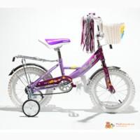 Двухколесный велосипед Mars 14 дюймов цвет розовый с фиолетовым