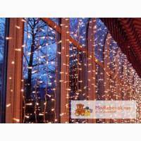 Гирлянда светодиодный занавес 2х1 метр,новогоднее оформление зданий.
