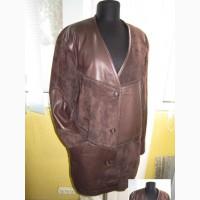 Большая оригинальная женская кожаная куртка-накидка SPORT. Лот 83