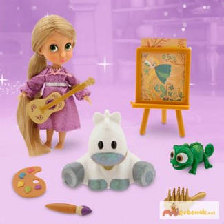Кукла мини аниматор Рапунцель с набором игрушек