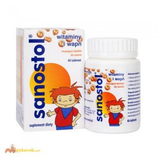 Рассасывающиеся таблетки для детей 4-х лет, школьников и взрослых Sanostol 60шт