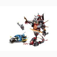 Детский конструктор JVToy 16002 «Битва с демоном» серия «Герои ниндзя»