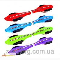 Скейт/скейтборд рипстик двухколесный Vigor Board со стальной основой: 4 цвета