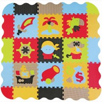 Детский игровой коврик - пазл Приключения пиратов с бортиком GB-M1503E